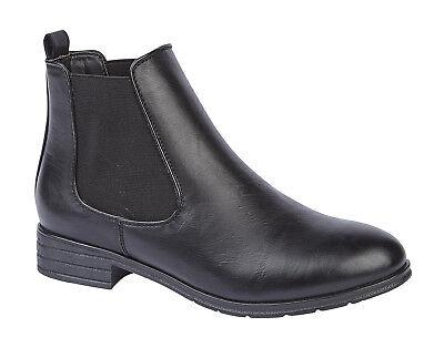 Nuevo Mujer Damas Tacón Chelsea Bloque Botas al Tobillo Cordones Casuales Zapatos Tallas 3-8
