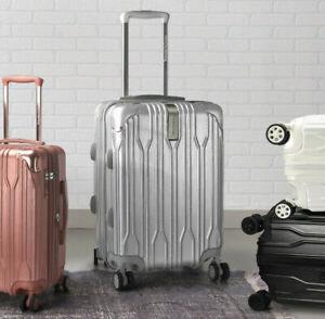 "Bell Weather 21"" Carry-on Hardside Expandable Metallic Spinner TSA Lock Luggage"