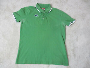c3f8bc59758f1 VINTAGE Kappa Polo Shirt Adult Large Green Blue Soccer Rugby Mens ...