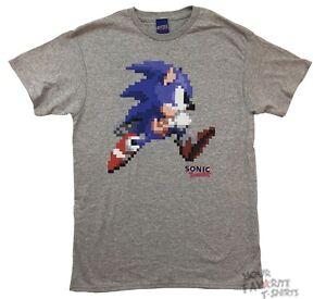 455a0b8d Sonic The Hedgehog 8 Bit Pixel Punk Sega Gamer Licensed Adult T ...