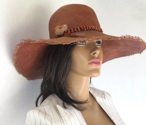 Magar Hatworks: Straw floppy sunhat -brown -