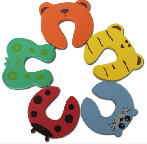 5x Cartoon Door Stopper Finger Pinch Baby Child Toddler Safety Guard Jammers Efo