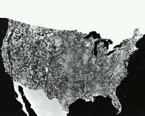 New NASA Photo Choose from 6 Sizes! 1st Satellite Image of the United States