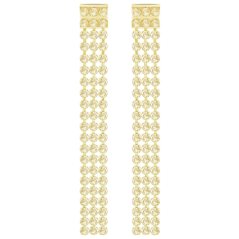 FIT LONG CRYSTAL goldEN SHADOW PIERCED EARRINGS 2017 SWAROVSKI JEWELRY  5364807