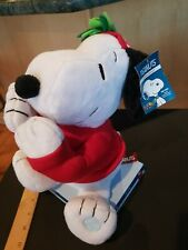 Musical Snoopy Christmas Plush Peanuts Animated Joe Mistletoe Blows Kisses NWT