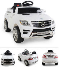 Mercedes-Benz ML 350 SUV Kinderauto Kinderfahrzeug Kinder Elektroauto (weiss)