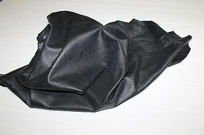 Italian  Lambskin leather hides skins hide skin crinkle patent butter cream DISTRESSED LIGHT GREY 5sqf  #8008