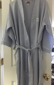 Hemingway-Point-Mens-Blue-w-White-Piping-Robe-with-Belt-One-Size-Fits-Most-USA