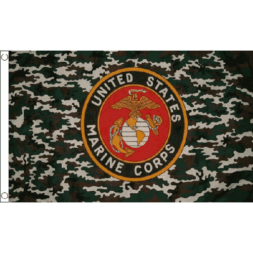 Camo Marine Flag 5Ft X 3Ft United States Of America Marines Corps Banner New
