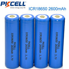 4 X 18650 Battery Lithium Li-ion Rechargeable Batteries 2600mAh 3.7V Cell PKCELL