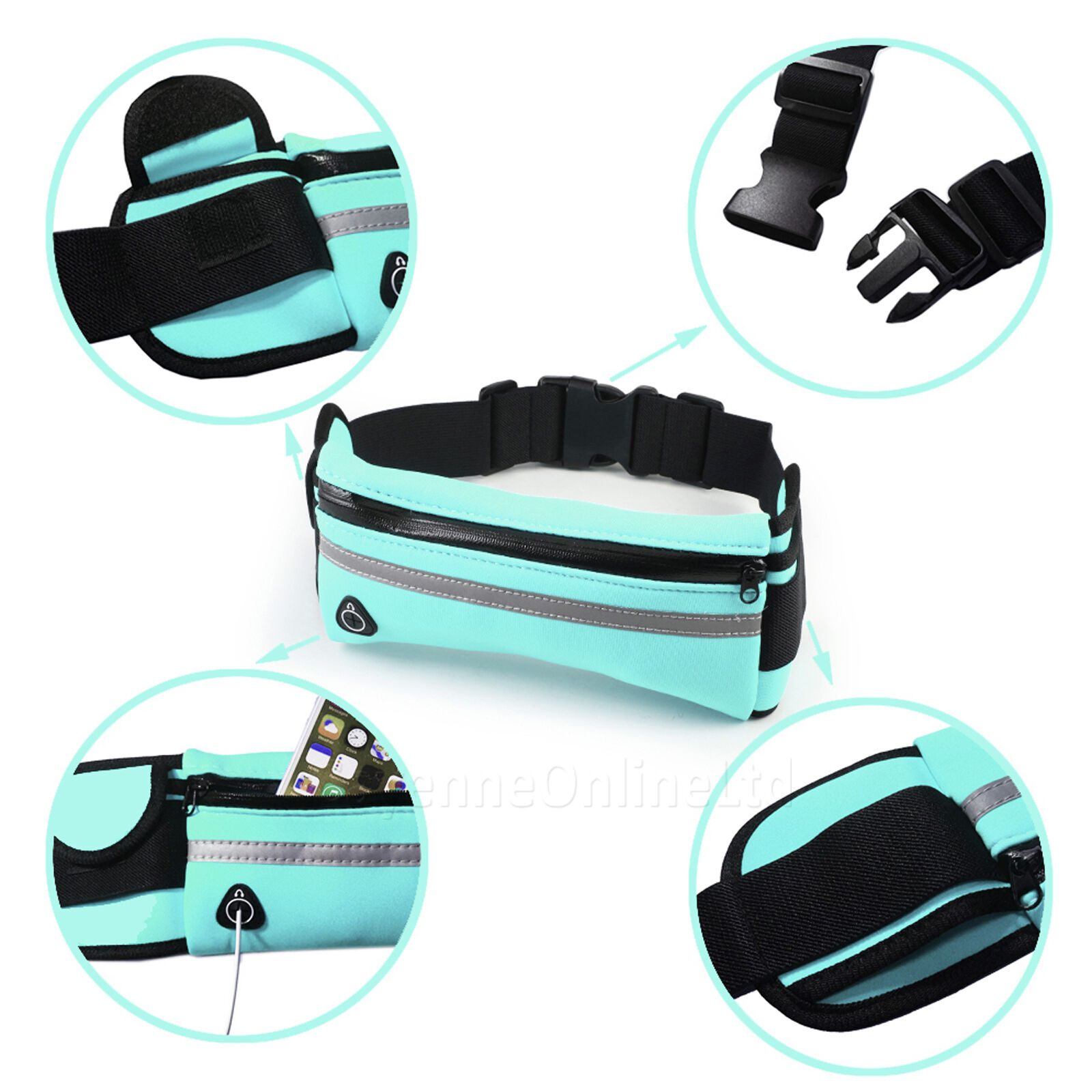 Gym Galaxy Voyage Sports Active Ceinture Fanny Pack pour Samsung Galaxy Gym A8 Star e5d81a