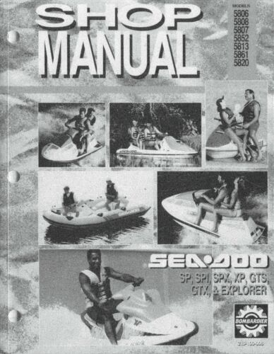 1993 SeaDoo SP SPI SPX GTS GTX XP Explorer PWC Shop Service Repair Manual 93 CD