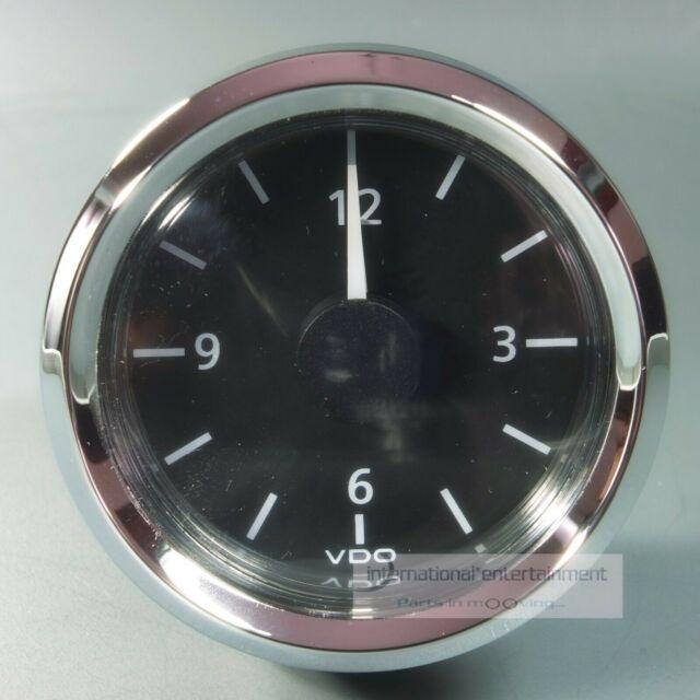 VDO QUARZ UHR  - UHR  VIEWLINE   CLOCK  AUTO + MARINE  12V  chrom