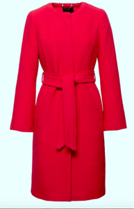 long rouge taille longueur femme boule à genou avec Trenchs capuche grande ceinture qf8n4nEUw