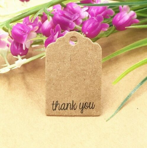 Craft Paper balises /'Handmade With Love/' /&/' THANK YOU /'Hand Made Poison balises #2