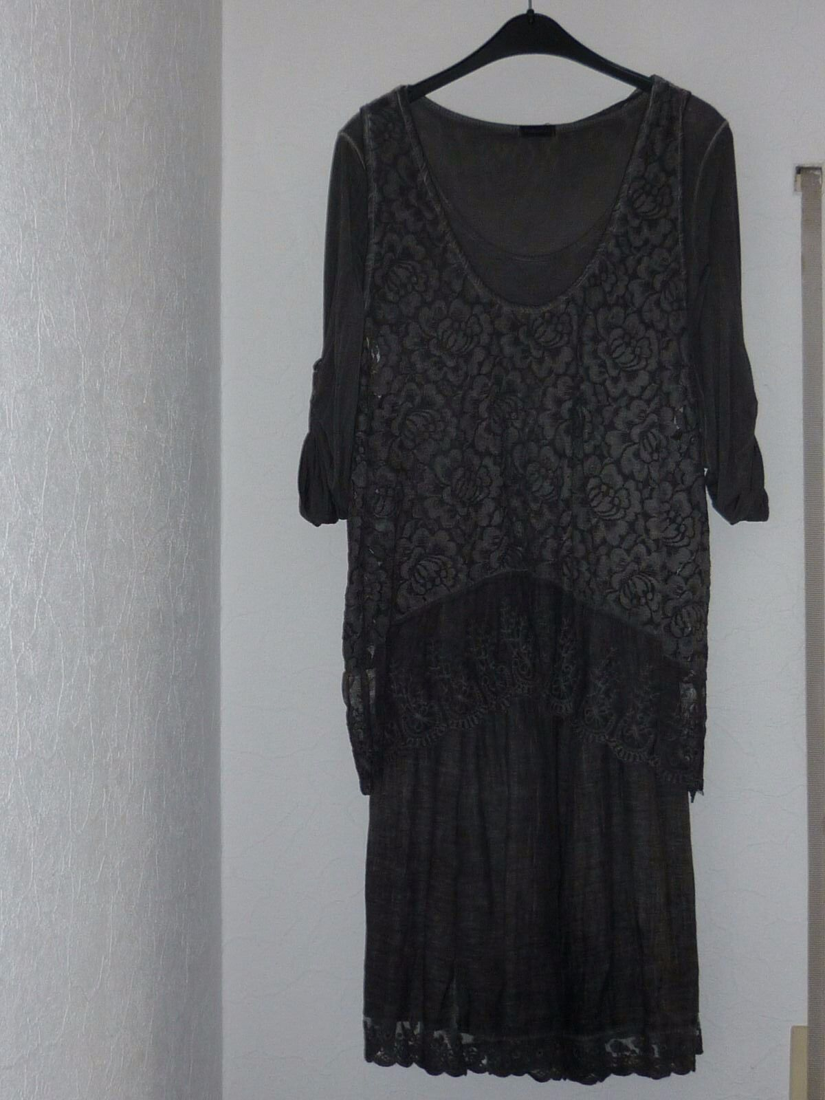 Extravagantes 2-teiliges Kleid in dunkelgrau, Gr. M, 38, Made in , neu