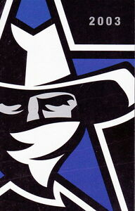 2003 Dallas Desperados Arena Football Pocket Schedule Ebay