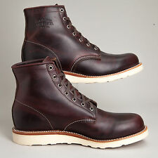 "Chippewa 6"" Plain Toe Wedge Cordovan Mens Carpenter Work Boots 12 D 1901M16"