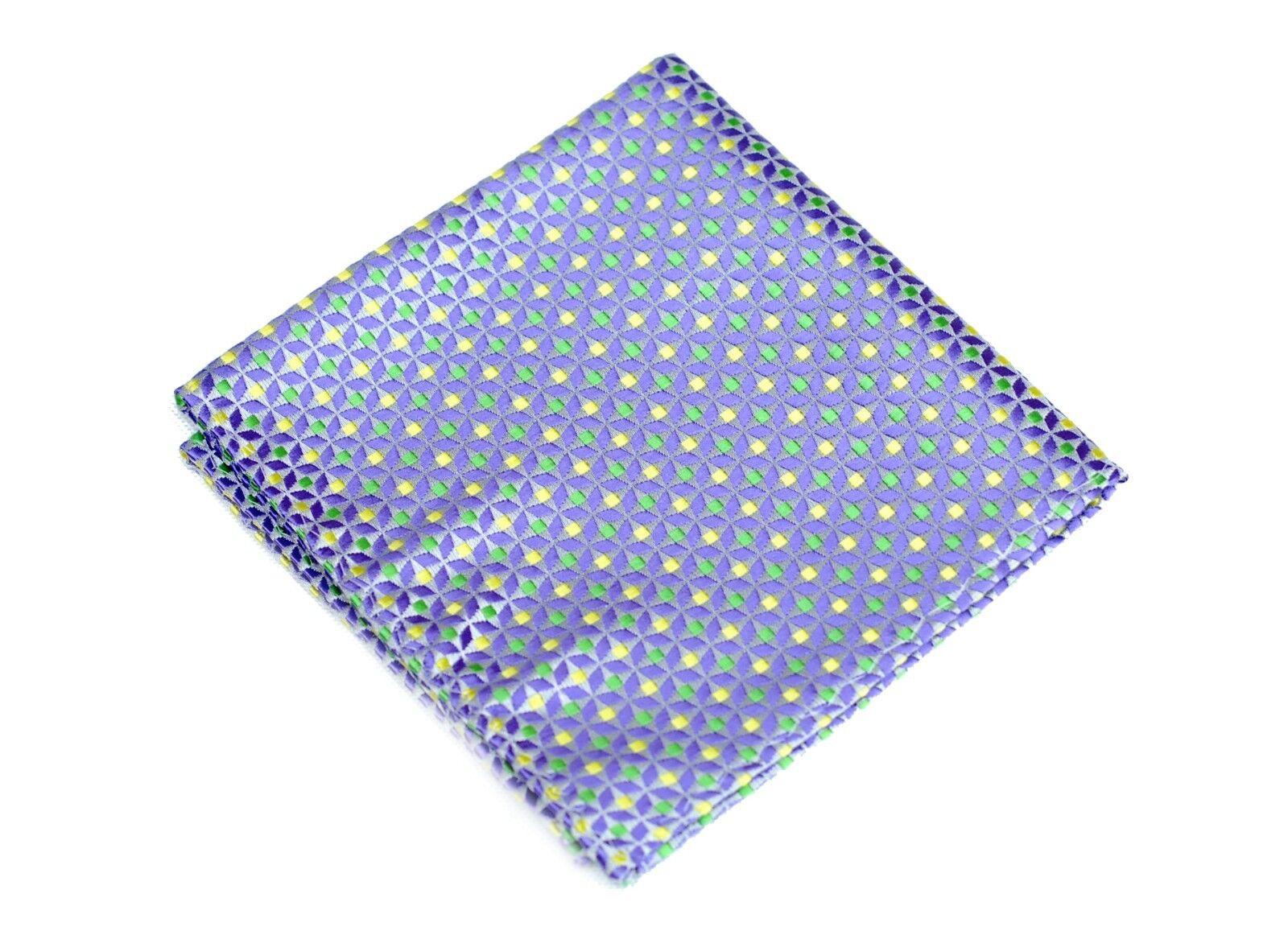 Lord R Colton Masterworks Pocket Square - Herne Purple Silk - New