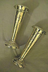 antica-coppia-vasi-portafiori-ARGENTO-INGLESE-old-sterling-925-Birmingham-1907