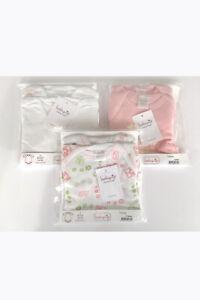 Premamy-Set-6-Body-neonato-Babyvip-mezza-manica-100-cotone-colori-assortit