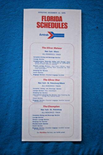 Dec Amtrak Florida Schedules 1975 12