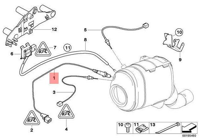 New Bmw X5 E70 Lambda Oxygen Sensor 13627791592 7791592 3 0 Diesel Oem 2010