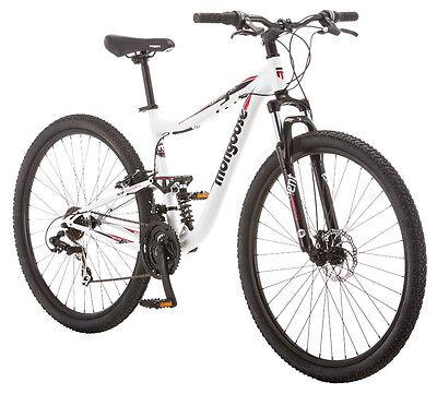 29 in Mongoose Men's Dual Suspension Mountain Bike Ledge 3.5, White