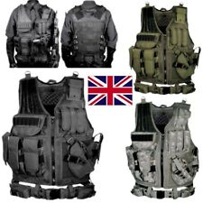 UK Military Tactical Vest CS Paintball Airsoft Hunting Molle Mag Assault Pouches