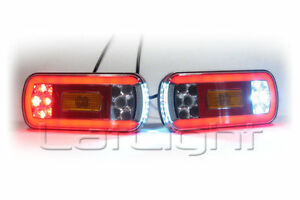 Spezielle Fahrzeug-Teile 2 Stück LED Rückleuchten Schlusslicht Bremslicht Blinker LKW Trailer 12V 24V