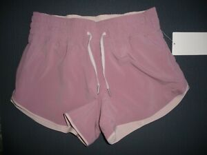 "Lululemon CHOOSE A SIDE MR SHORT 3"" PINK TAUPE PINK BLISS SZ 4 NWT"