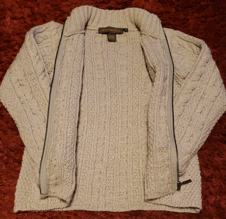INIS CRAFTS Ireland Womens Small 100% Merino Wool… - image 3