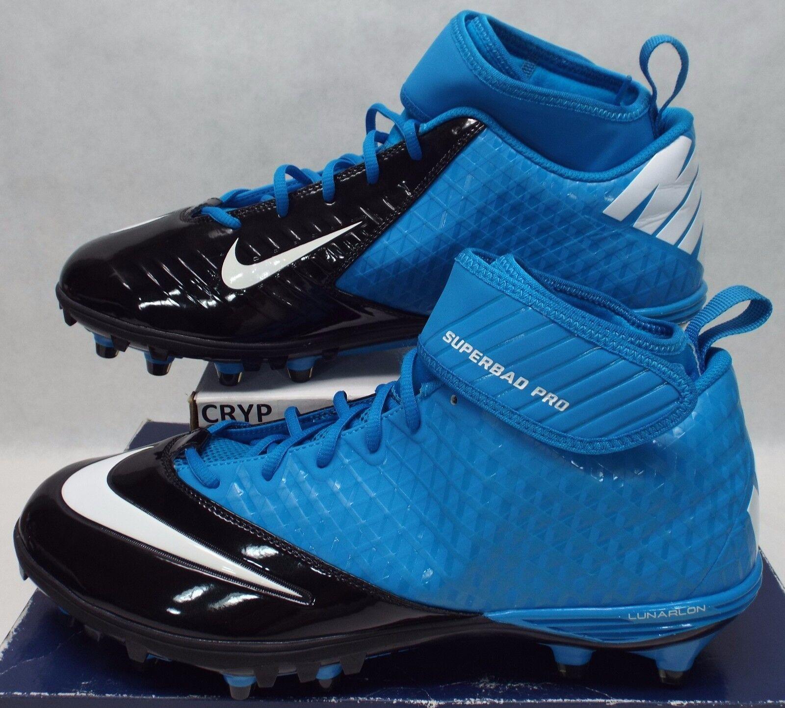 New Mens 14 NIKE Lunarlon Superbad Blue Black Cleats Shoes Price reduction