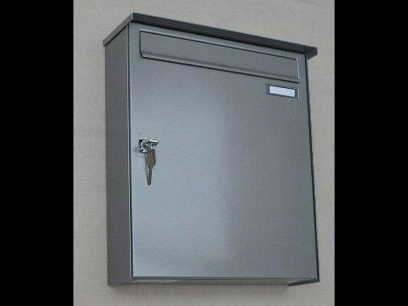 Briefkasten Knobloch Graualuminium, Metall, Wandbriefkasten
