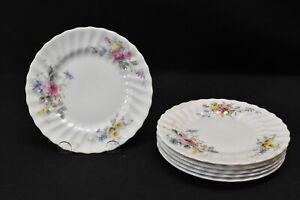 Royal-Doulton-Arcadia-Green-Backstamp-Set-of-6-Bread-amp-Butter-Plates