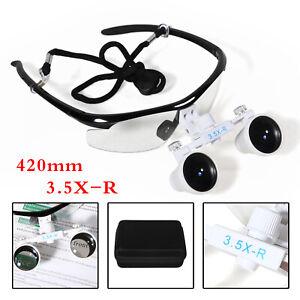 dentaire-Binocular-medicale-loupes-3-5x-420mm-Dental-magnifier-Glasses-w-D