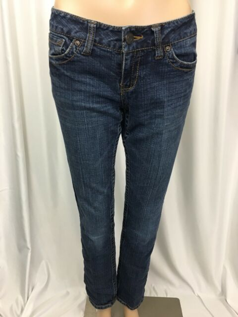 Aeropostale Womens Jeans Bayla Skinny Medium Wash Denim Stretch Size 1 2 Short