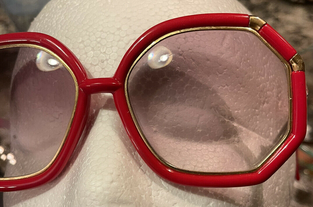Vintage Ted Lapidus Sunglasses Octagonal Red Fram… - image 7