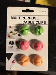 SystéMatique * Nouveau * Multi Purpose Cable Clips-afficher Le Titre D'origine Retarder La SéNilité