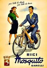 ART GARELLI MOTO MOTOCICLETTA BICI ITALIANA POSTER stampati