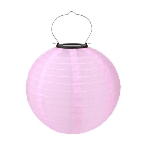 LED Solar Lantern Lamp Waterproof Outdoor Festival Wedding Decor Hanging Lights
