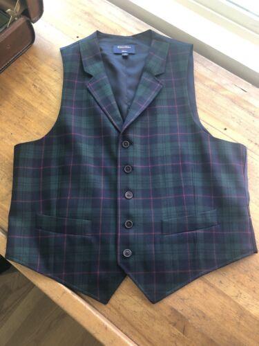 Brooks Brothers Blackwatch Vest 40S MINT $198