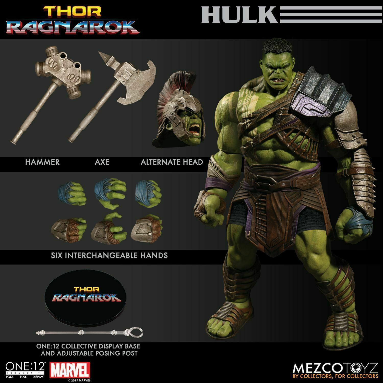 Mezco One 12 Collective Thor  RAGNAROK GLADIATOR HULK 8  azione cifra Marvel  prezzi all'ingrosso