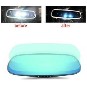 2pcs Universal Car Rearview Mirror Film Blu Ray Film Anti Glare Film