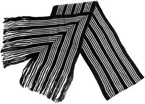 Mens-Black-White-Striped-Scarf