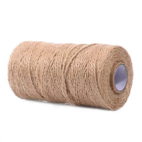 100M Handmade Retro Hemp Rope Jute Twine Box Wrapping Gift Wrap Packing Rope