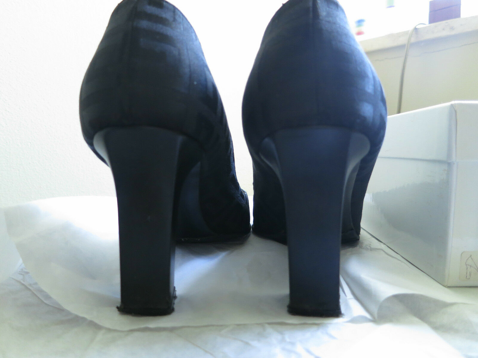Selten! Givenchy Pumps Schuhe Schuhes Stoff Logo Gr. 41 sehr bequem OVP NP