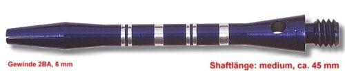 ca 45 mm blau Shaft Alu Stripe medium 10 Set 30 Stück