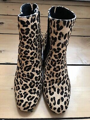 Dune Leopard Print Ankle Boots 4 37 | eBay