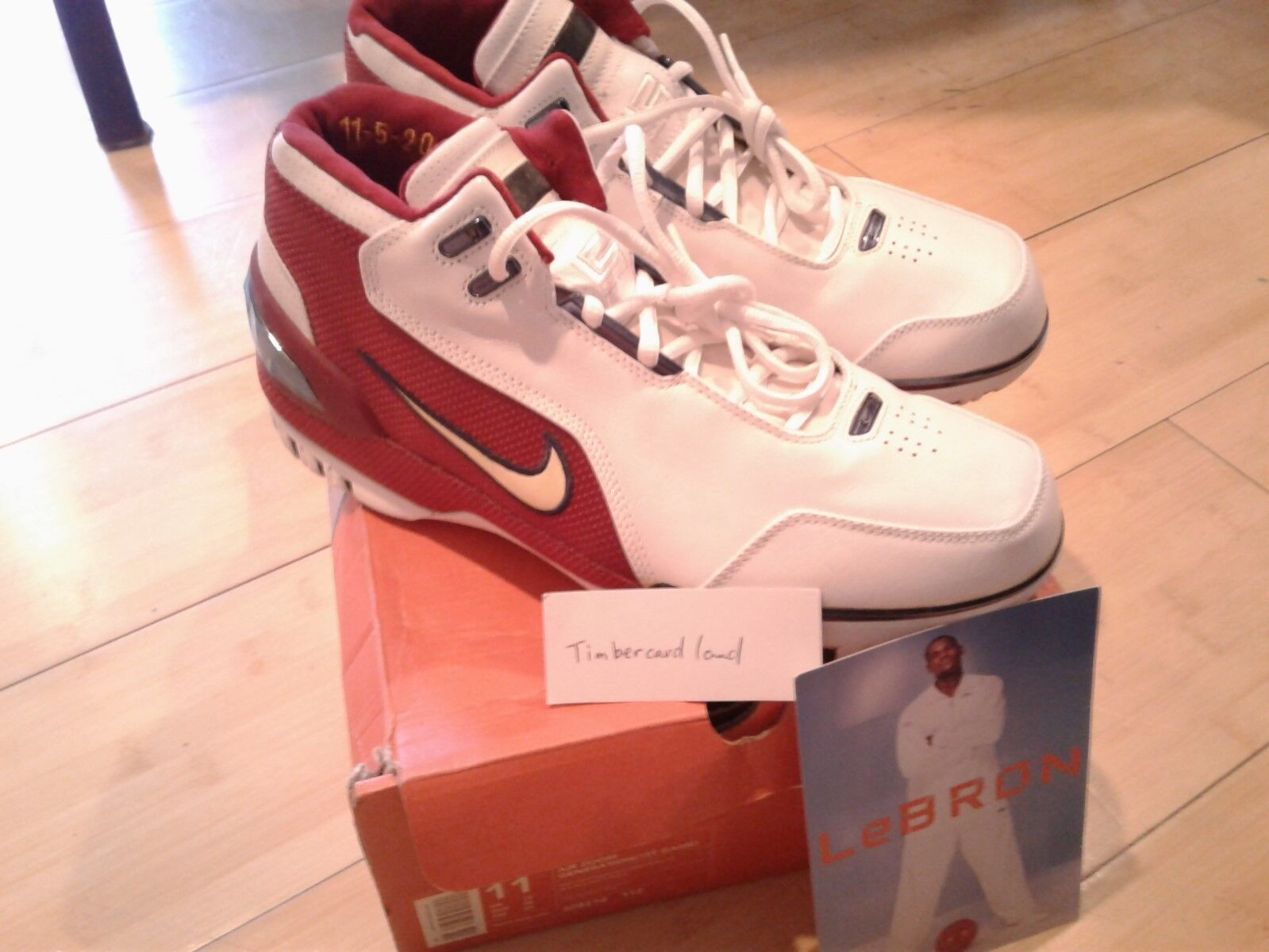 NIKE LEBRON AIR ZOOM GENERATION 1ST FIRST GAME SIZE 11 100% AUTHENTIC WITH CARD